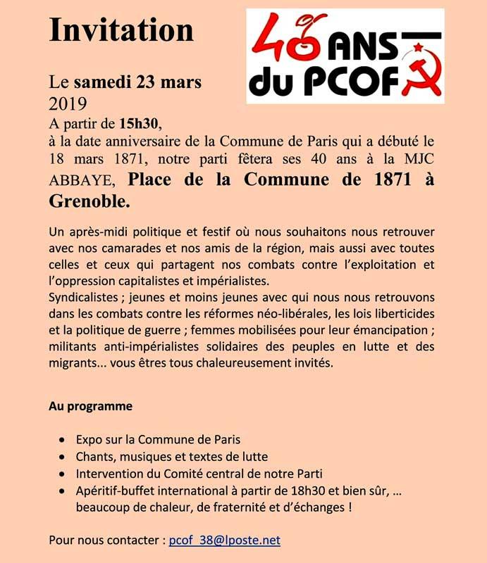 Fête à Grenoble pour l'anniversaire du parti
