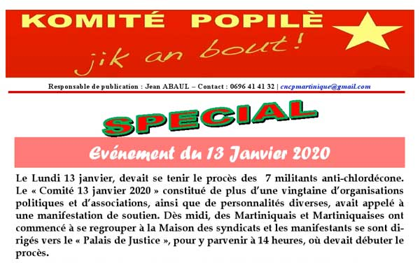 Martinique Halte A La Repression Coloniale Contre Ceux Qui