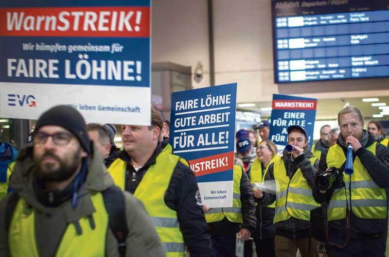 Grève pour les salaires